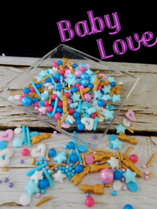 Baby Love Shower Hearts Stars Arrows Gold White Pink Blue Cup Cakesedible Sprinkles