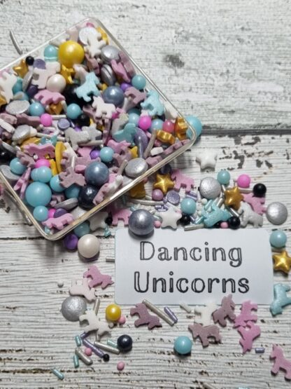 Dancing Unicorn With No Horns Edible Sprinkles Cake Decorations