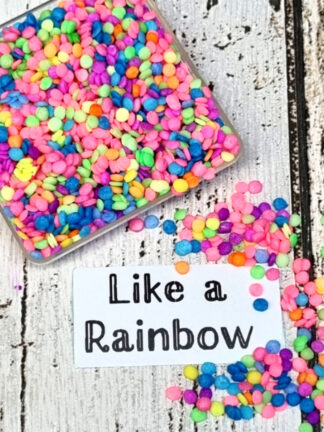 Like A Rainbow Neon Coloured Dots Ebible Bright Coloured Sprinkles