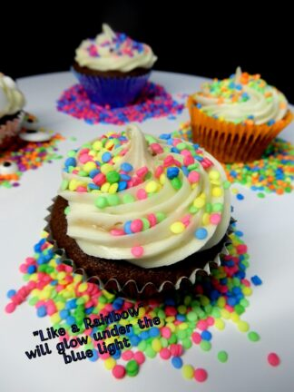 Like A Rainbow Under The Blue Light Sprinkles Sequins Edible Cake Decorations
