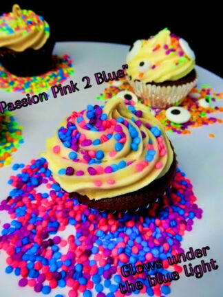 Mix Passion Pink 2 Blue Purple Under The Blue Light Sprinkles Sequins Edible Cake Decorations