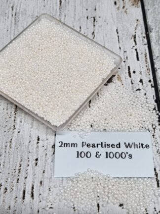 2mm Pearlised White 100 And Thousands Edible Sprinkles Decorations