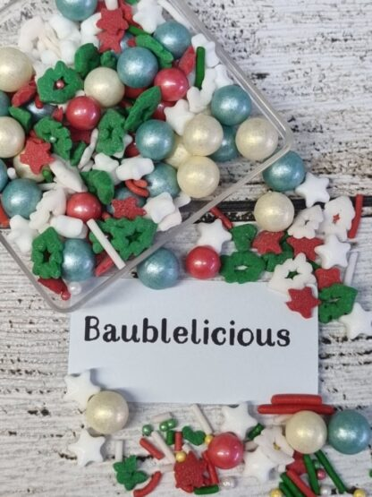 Christmas Sprinkles Red Green Gold Edible Cake Decorations Trees Stars