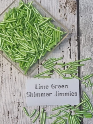 Lime Green Xmas Pearlised Strands Jimmies Cake Decorations Edible Sprinkles Christmas Celebrations