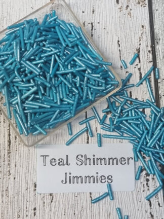 Teal Sea Green Blue Strands Jimmies Cake Decorations Edible Sprinkles Christmas Celebrations