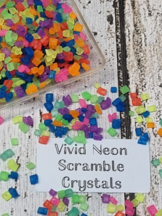 Vivid Scramble Neon All Colours Mix Bright Edible Sugar Crystals Spinkles Cake Biscuit Decorations